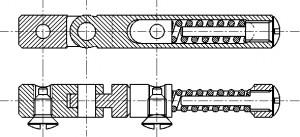 バネ丁番構成図